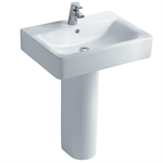 concept cube 60cm washbasin, pedestal or furniture 1 taphole