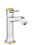 Metropol Classic Single lever basin mixer 160 with lever handle for washbowls with pop-up waste set 31302090