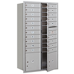 3700 Series Recessed Mounted 4C Horizontal Mailboxes - Front Loading - 15 Door High Units