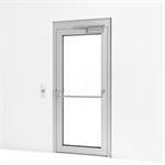 entrance door w/ escape control and push bar