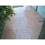 béton imprimé - stamped concrete  - chryso®duraprint - vieux pavés