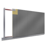 steel facings s  with panel cladding mw core v position visible fixing