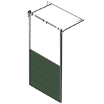sectional overhead door 601 - high lift - 40mm panels