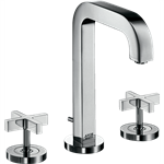 AXOR Citterio 3-hole basin mixer 170 with spout 140 mm, cross handles, escutcheons and pop-up waste set 39133000