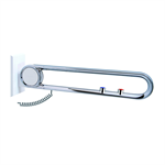 cavere chrome suspendable lift-up support vario, suspendable, with e-button, l = 750, with base plate call-nc