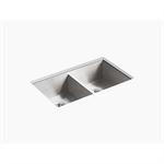 """vault™ 32"""" x 18-5/16"""" x 9-7/16"""" undermount double-equal kitchen sink"""
