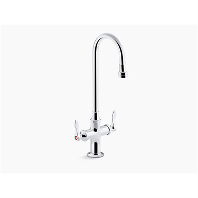 triton® bowe® 1.0 gpm monoblock gooseneck bathroom sink faucet with aerated flow and lever handles, drain not included