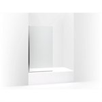 "aerie® bath screen, 56-15/16""h x 32""w with 1/4"" thick crystal clear glass and square corner"
