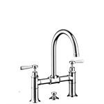 AXOR Montreux 2-handle basin mixer 220 with lever handles and pop-up waste set 16511000