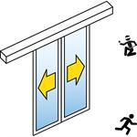 automatische schiebetür (einbruchhemmend rc2/rc3) - 2-flüglig - ohne seitenteil - sl/psxp-rc