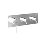 UNIC 4 outlets - horizontal rosette - single lever shower/bath mixer