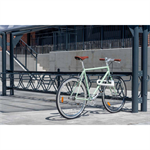 DELTA Bicycle Rack left 45° single sided 2,4m CC600mm 4 bicycles