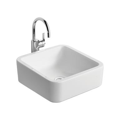white cube 40cm vessel washbasin, no taphole