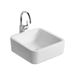white cube 40cm vessel washbasin, no taphole