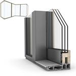 glass corner wood-alu hs330