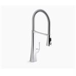 "graze® single-handle semi-professional kitchen sink faucet with 24-5/16"" spout"