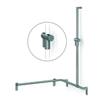 Cavere Shower handrail with shower head rail, movable, 750 x 750 x 1100, right