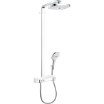 Raindance Select E Showerpipe 300 2jet EcoSmart 9 l/min with ShowerTablet Select 300 27283400