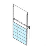 sectional overhead door 601 - pre-assembled vertical lift - full vision panels