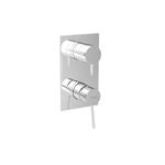 UNIC 4 outlets - vertical rosette - single lever shower/bath mixer