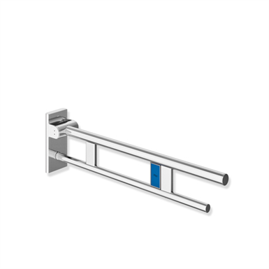 mobile hinged support rail duo, design a with radio-controlled toilet flushing mechanism