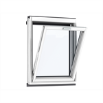 vertical pinewood window element bottom-hung - vfe