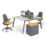 delta slim incliné – bench desk