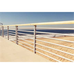 "Aluminum Multi-Line Guardrail, Multi Line Rail With 8 Lines Or 4"" Max Opening For Public Application"