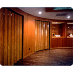"Series 240 Commercial/Residential Accordion Door, Vinyl-Lam up to 12' 1"", Hardwoods up to 10' 1"" Height, Custom Width"