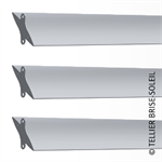 sunbreaker between wing tips horizontal, vertical and standing blades - azur range