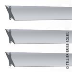 sunbreaker between wing tips horizontal, vertical and standing blades - azur range