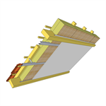 rockmur nu + rockcomble system for converted attic insulation (flex pro - fr)