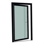S9000 jednokřídlé otvíravě-sklopné balkónové dveře s prahem