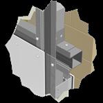 reynobond riveted screwed on wood or alu profile