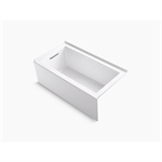 """underscore 60"""" x 32"""" alcove bath with integral apron, integral flange and left-hand drain"""