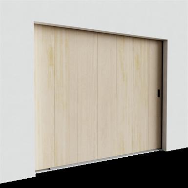 garage door - veined wood mono grooved golden oak side sliding