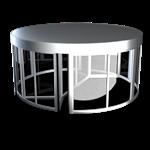 ASSA ABLOY UniTurn, zweiflügelige Karussell-Drehtüre