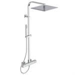 ceratherm c100 shower mixer exposed offset & shower system square