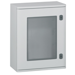 marina enclosures - polyester with glass door - ip 66 - ik 10 - 400x300x206 mm