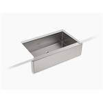 """strive® self-trimming® 35-1/2"""" x 21-1/4"""" x 9-5/16"""" under-mount large single-bowl kitchen sink with tall apron"""