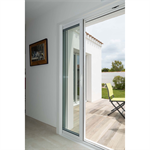 2-leaf 1-track aluminium pocket window