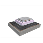 Base KL 2-layer inverted roof system for paving slabs on concrete insulated with XPS