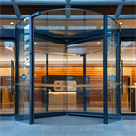 revolving door, atrium plus atrium automatic wall-hosted