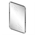 71900 presto miroir inox 500x400mm lvl0