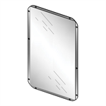 71900 presto stainless steel mirror - 500x400mm lvl0