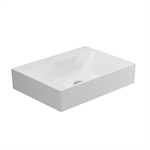 ALBUS Without tap-hole Over-counter Wash-basin 60x45 cm.