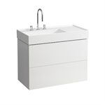 KARTELL BY LAUFEN Vanity unit 880 mm L, 2 drawers, incl. drawer organiser, matches washbasin 810338