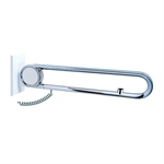 Cavere Chrome Suspendable lift-up support vario, suspendable, with E-Button, L = 600, with base plate NOC