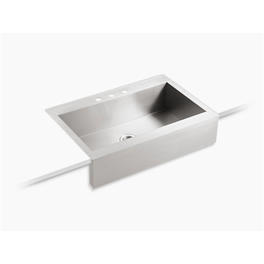 """Vault™ 35-3/4"""" x 24-5/16"""" x 9-5/16"""" Self-Trimming® top-mount single-bowl stainless steel apron-front kitchen sink for 36"""" cabinet"""