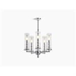 damask™ five-light chandelier